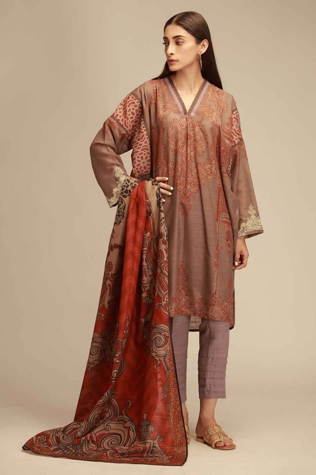 Printed Lawn Unstitched Collection 2019 By Khaadi (7)