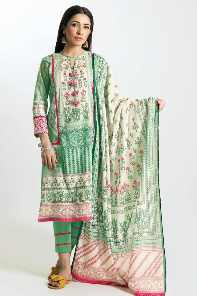 Printed Lawn Unstitched Collection 2019 By Khaadi (8)