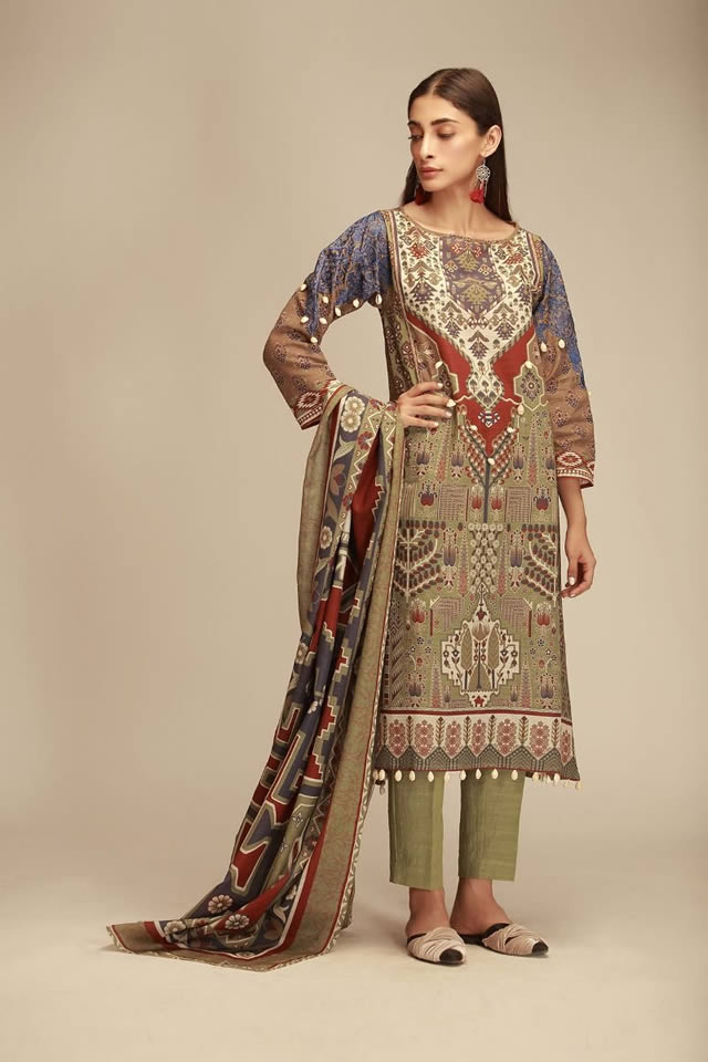 Printed Lawn Unstitched Collection 2019 By Khaadi (9)