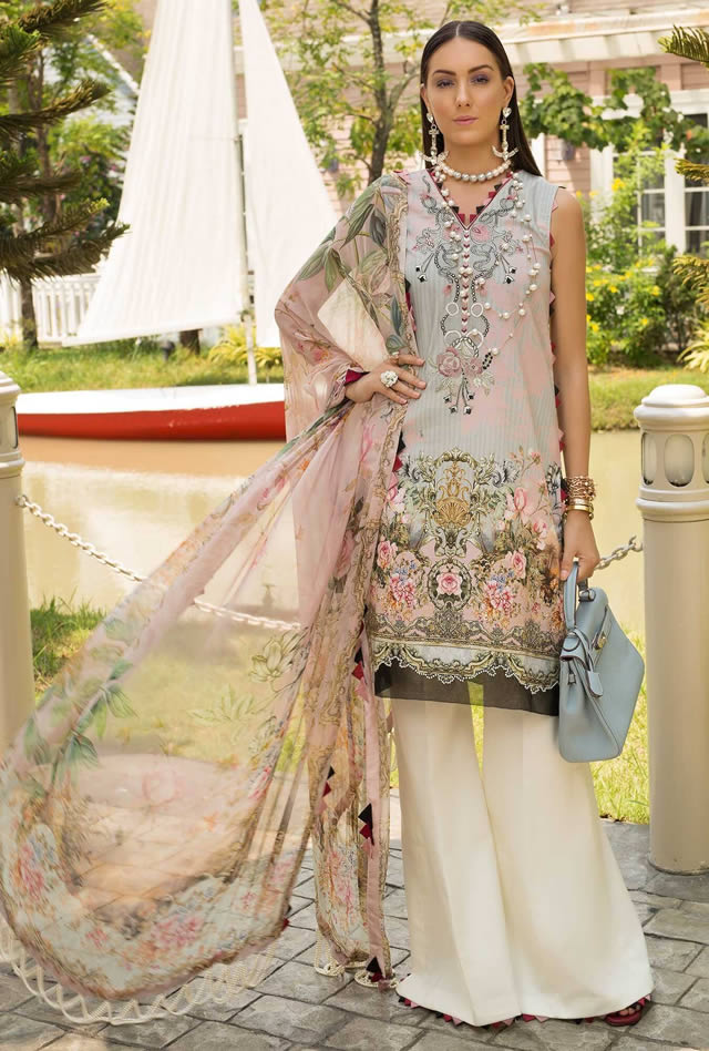Saadia Asad Womens Digital Printed Lawn Collection 2019 (10)