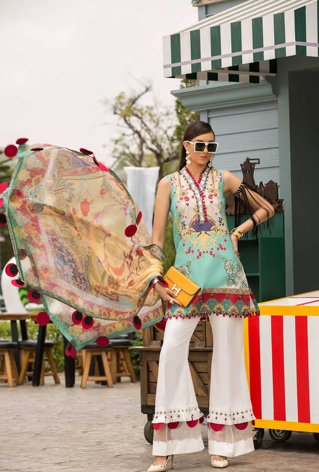 Saadia Asad Womens Digital Printed Lawn Collection 2019 (12)