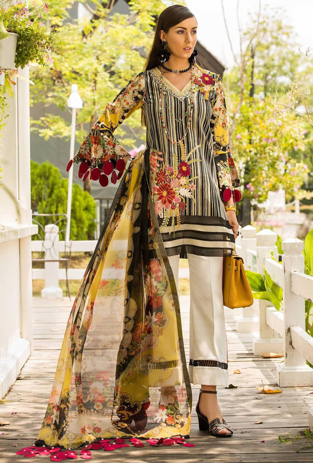 Saadia Asad Womens Digital Printed Lawn Collection 2019 (14)