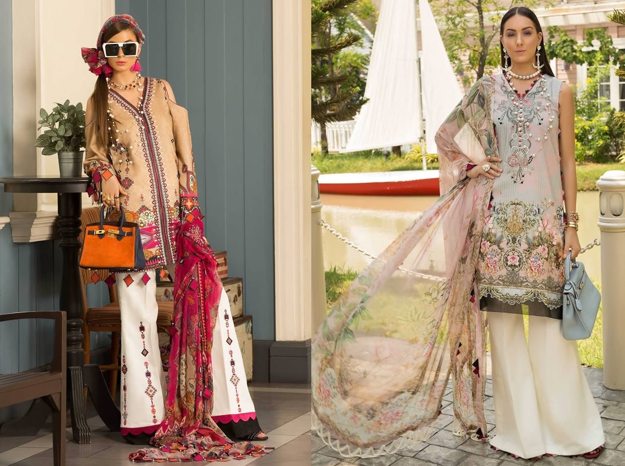 Saadia Asad Womens Digital Printed Lawn Collection 2019 (2)