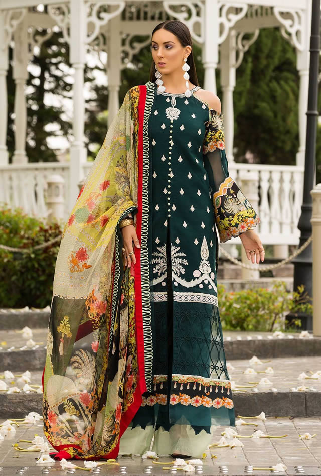 Saadia Asad Womens Digital Printed Lawn Collection 2019 (3)