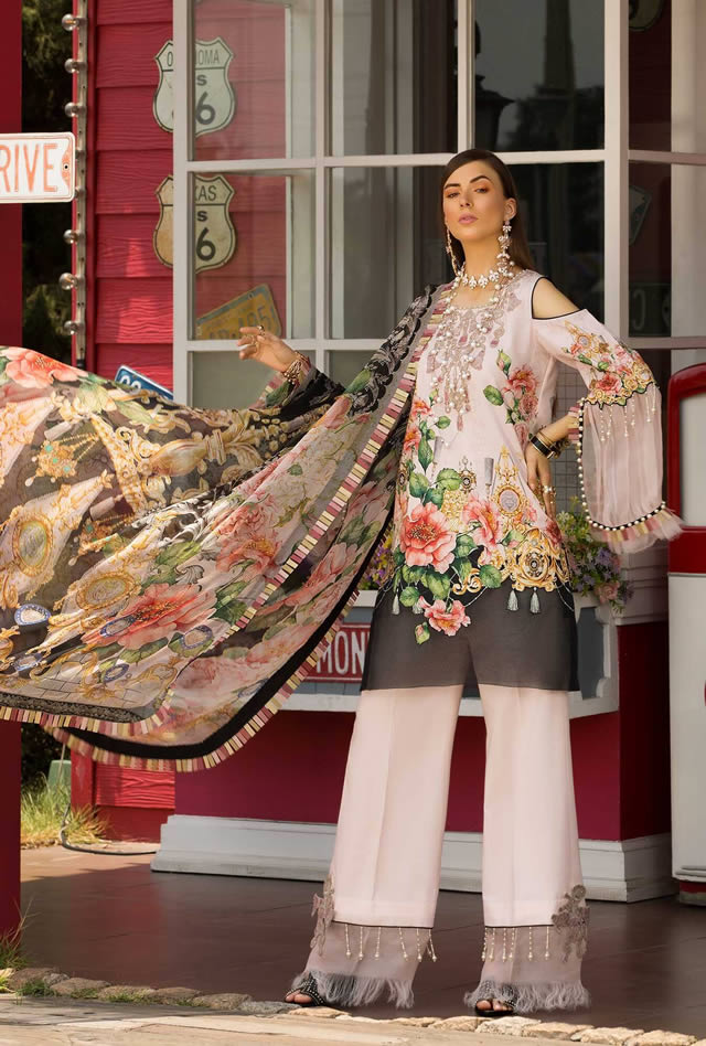 Saadia Asad Womens Digital Printed Lawn Collection 2019 (5)