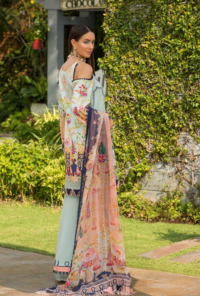 Saadia Asad Womens Digital Printed Lawn Collection 2019 (6)