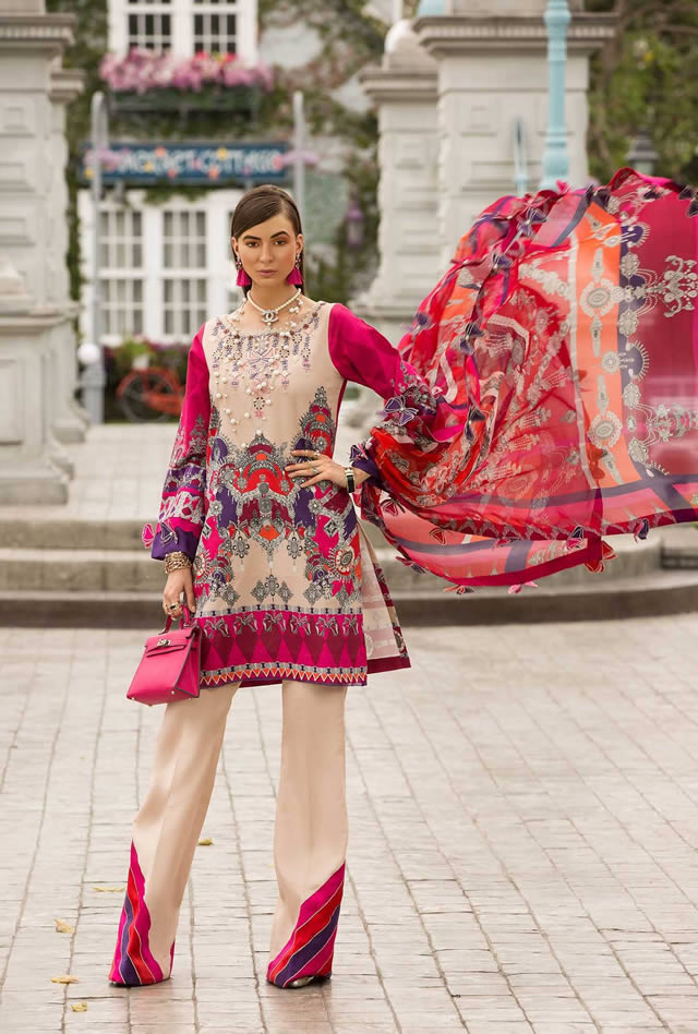 Saadia Asad Womens Digital Printed Lawn Collection 2019 (7)