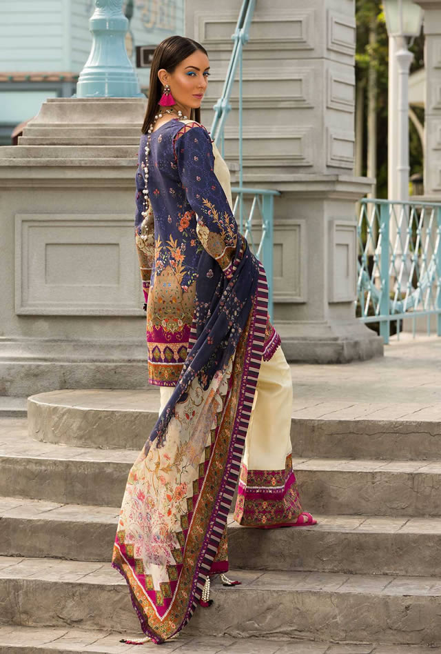 Saadia Asad Womens Digital Printed Lawn Collection 2019 (8)
