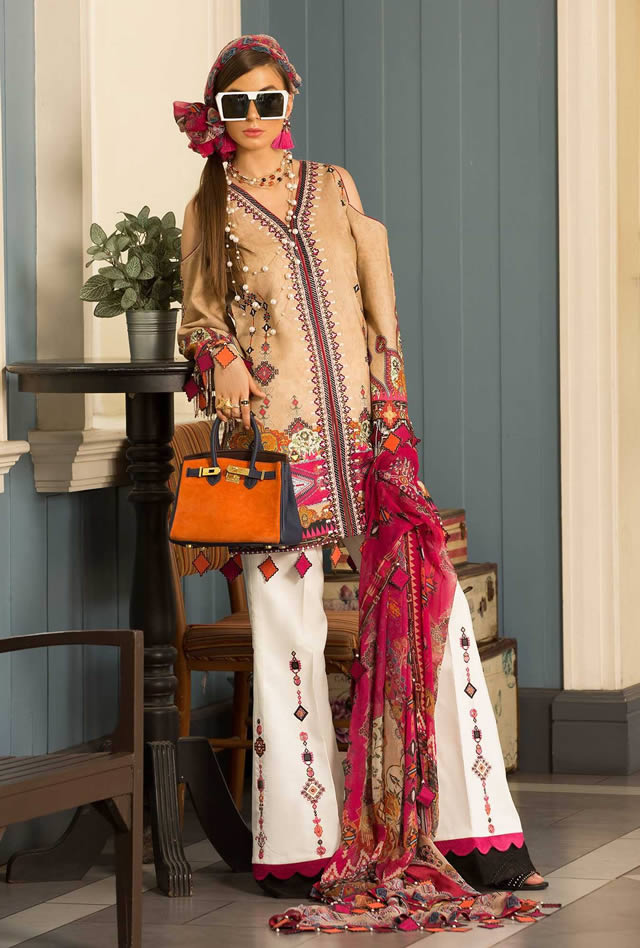 Saadia Asad Womens Digital Printed Lawn Collection 2019 (9)