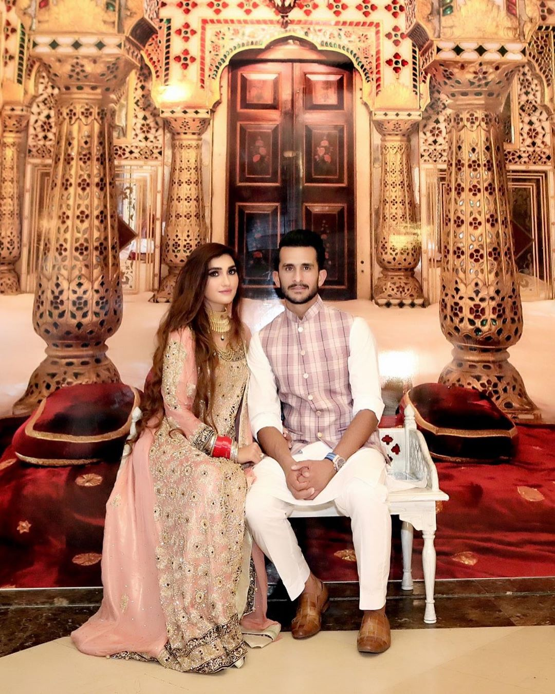 Cricketer Hassan Ali with his Wife at Shoaib Malik and Sania Mirza House in Dubai (3)