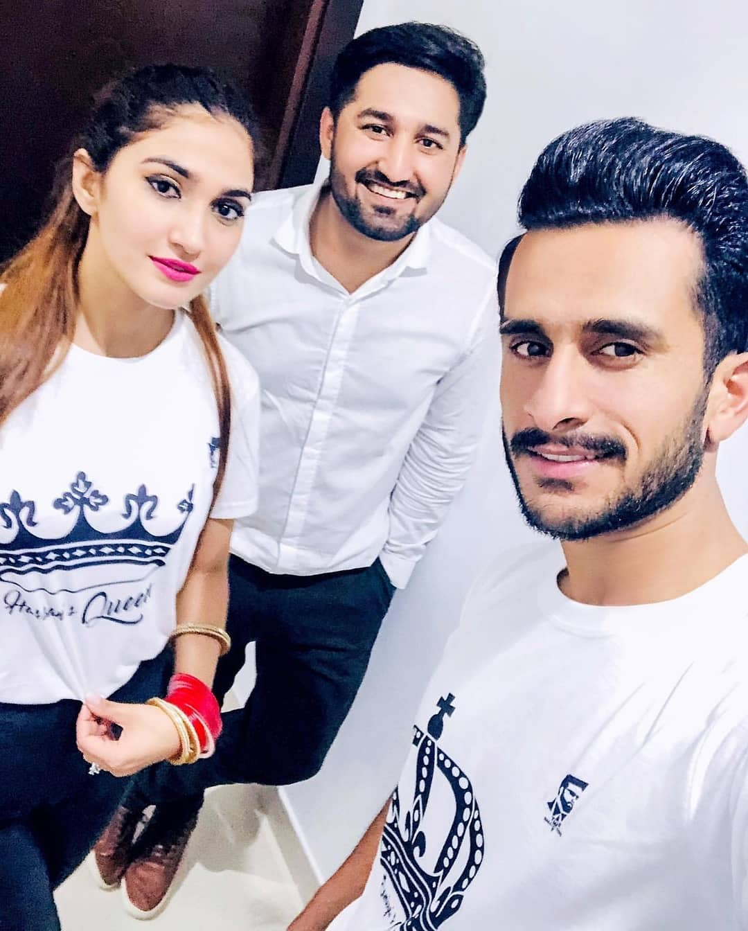 Cricketer Hassan Ali with his Wife at Shoaib Malik and Sania Mirza House in Dubai (6)