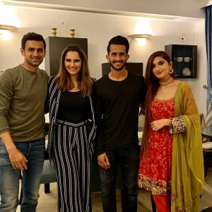 Cricketer Hassan Ali with his Wife at Shoaib Malik and Sania Mirza House in Dubai (7)