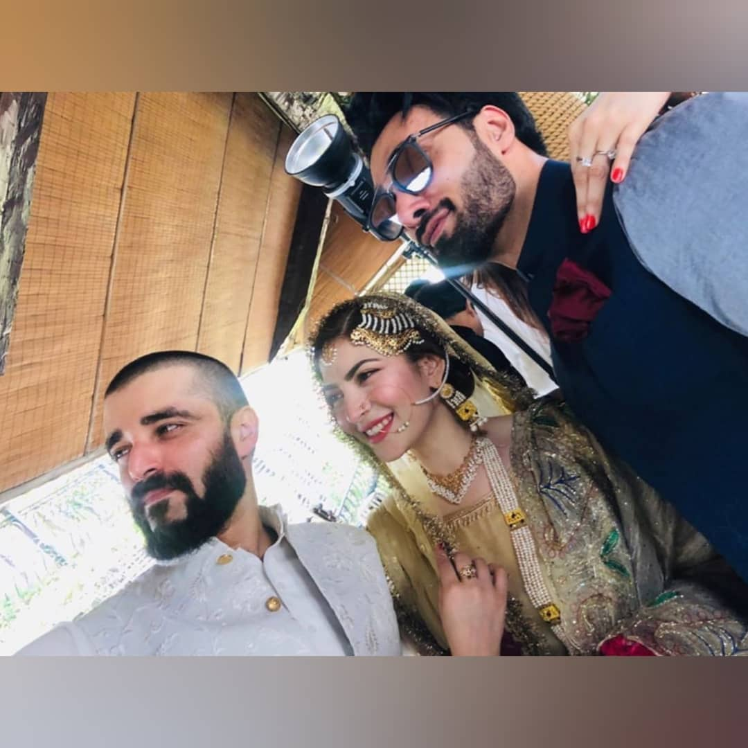 Hamza Ali Abbasi and Naimal Khawar Nikah HD Pictures Video (11)