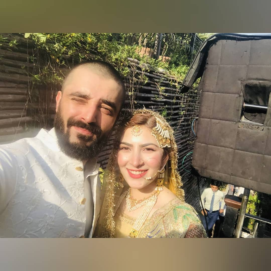 Hamza Ali Abbasi and Naimal Khawar Nikah HD Pictures Video (12)