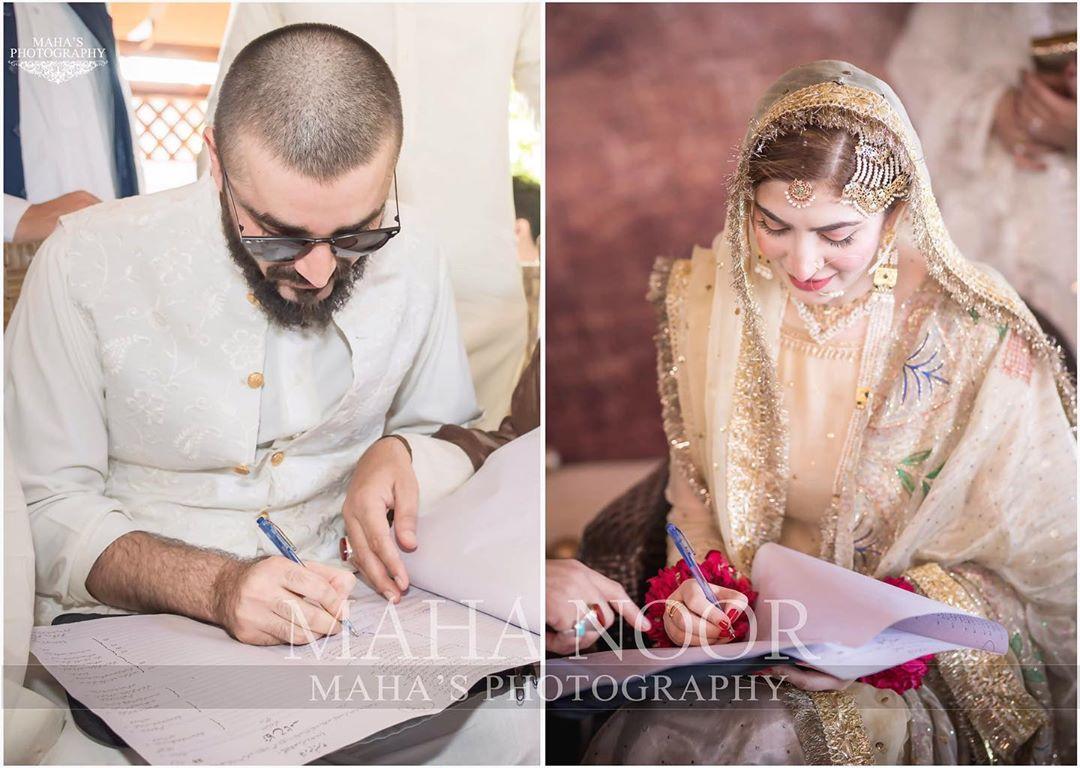 Hamza Ali Abbasi and Naimal Khawar Nikah HD Pictures Video (16)