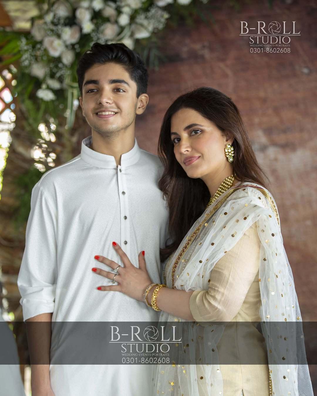 Hamza Ali Abbasi and Naimal Khawar Nikah HD Pictures Video (17)