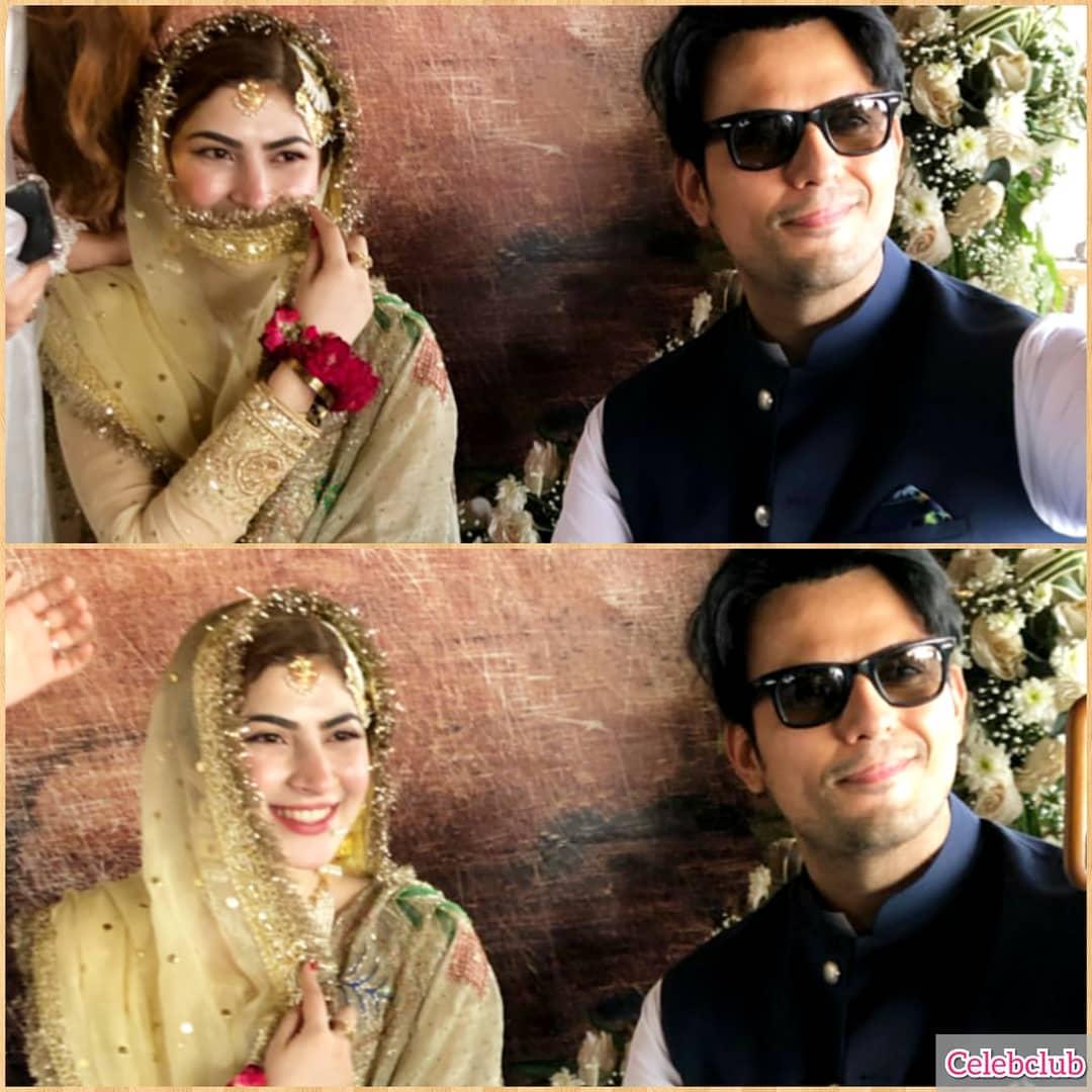Hamza Ali Abbasi and Naimal Khawar Nikah HD Pictures Video (36)