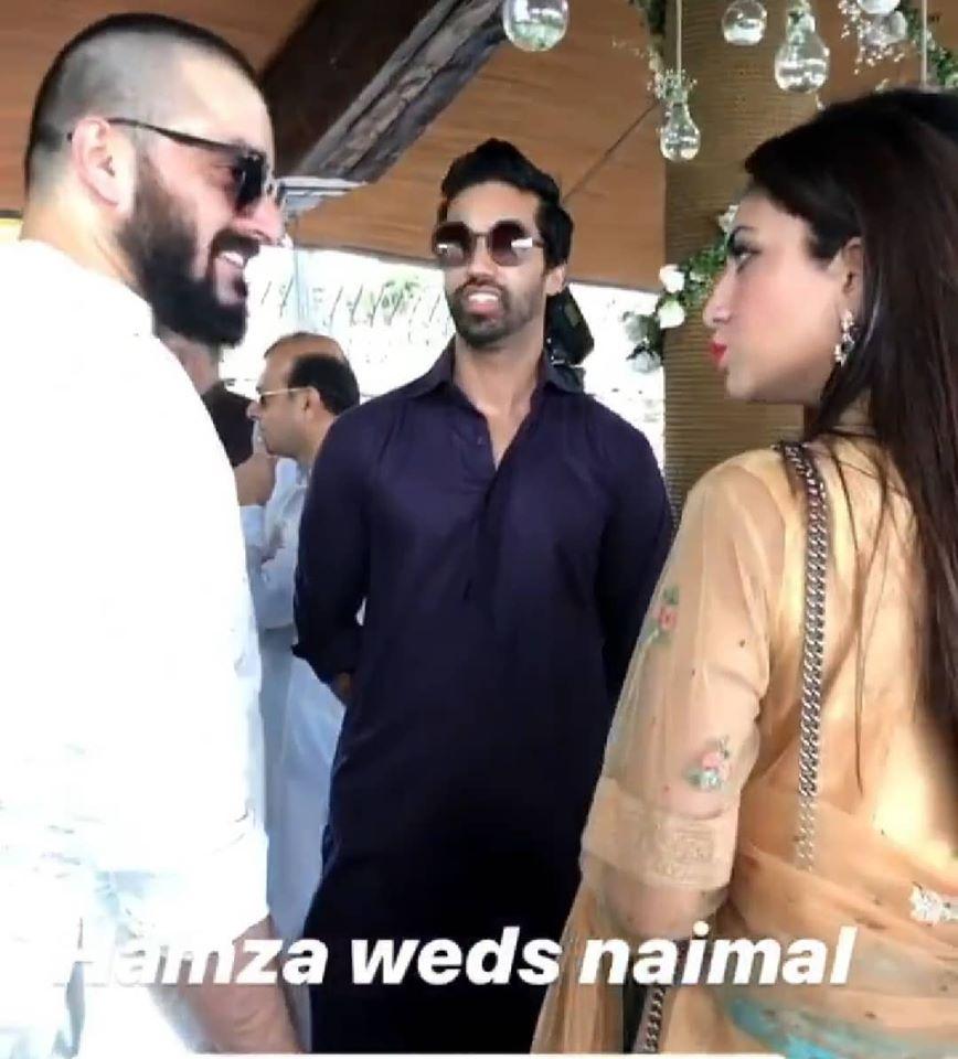 Hamza Ali Abbasi and Naimal Khawar Nikah HD Pictures Video (42)