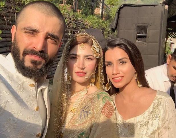 Hamza Ali Abbasi and Naimal Khawar Nikah HD Pictures Video (8)