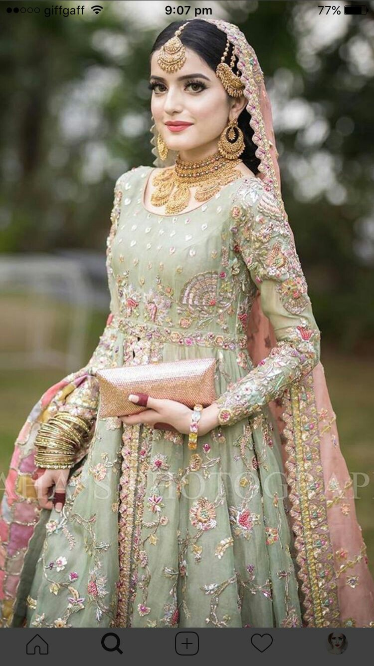Pakistani Bridals Mehndi Dresses Ideas 2019 (13)