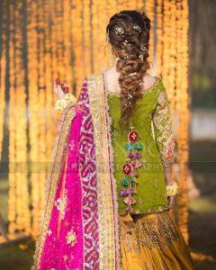 Pakistani Bridals Mehndi Dresses Ideas 2019 (3)