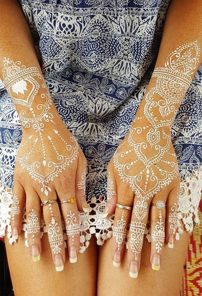 Women's Love White Henna Fashion 2019 (2)