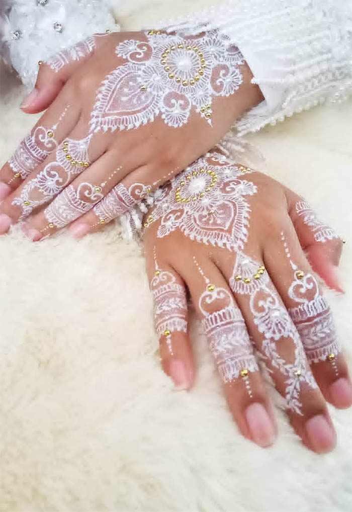 Women's Love White Henna Fashion 2019 (4)