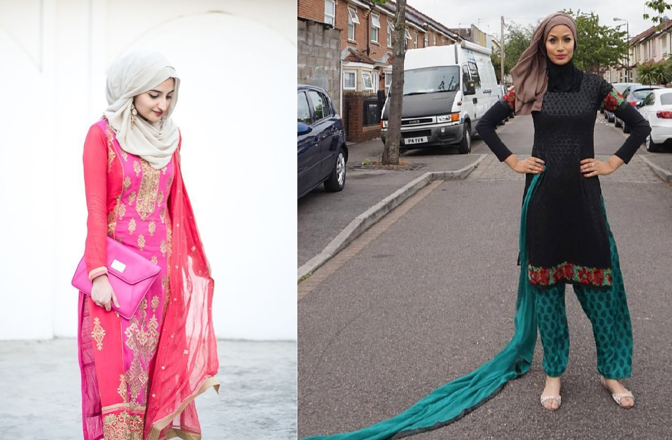 How Pakistani Womens Wear Hijab With Shalwar kameez (1)
