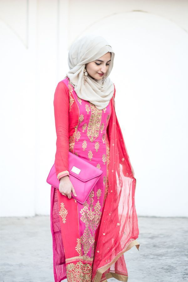 How Pakistani Womens Wear Hijab With Shalwar kameez (6)