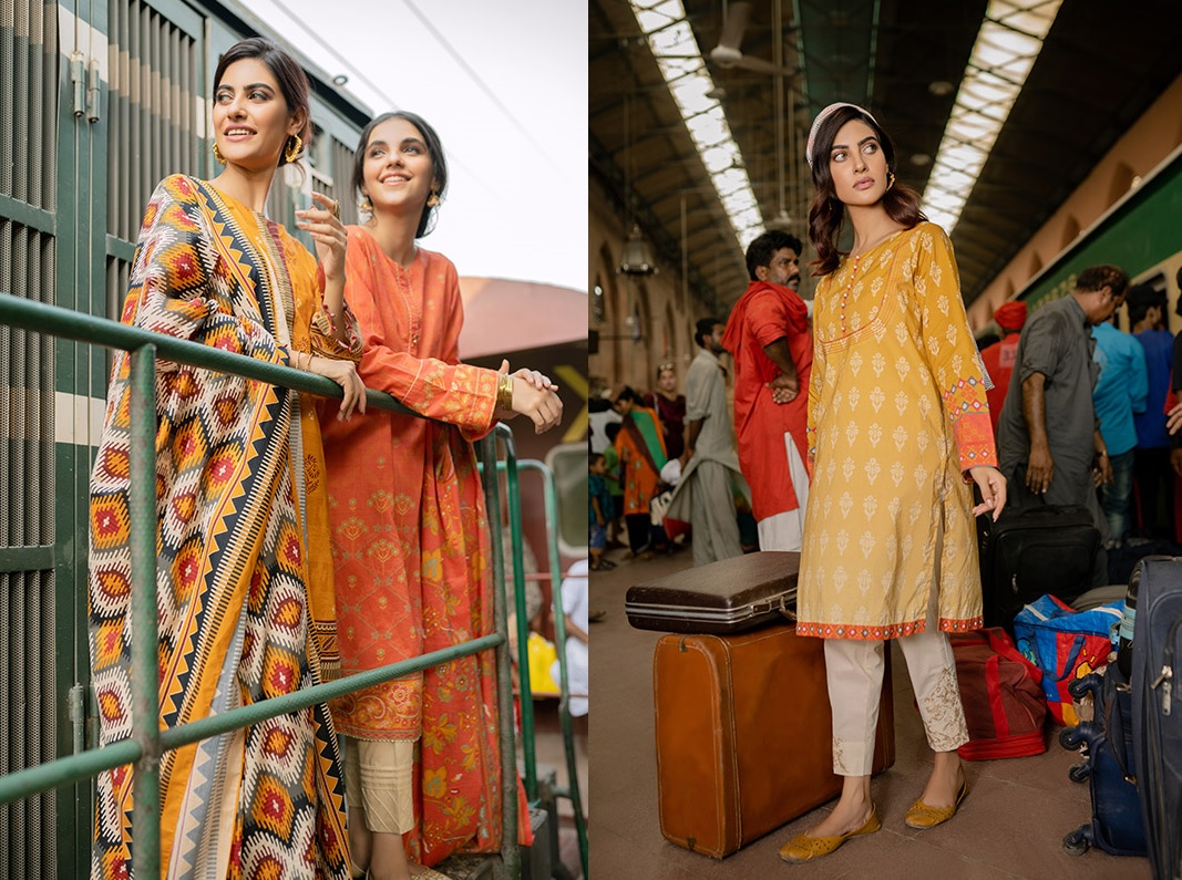 Six Unstitched And Pret Dresses 2019 By Zeen (2)