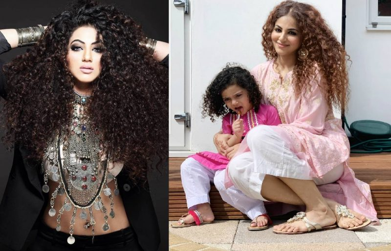 Annie Khalid Pakistani Female Singer Images with her Daughter Isha (1)