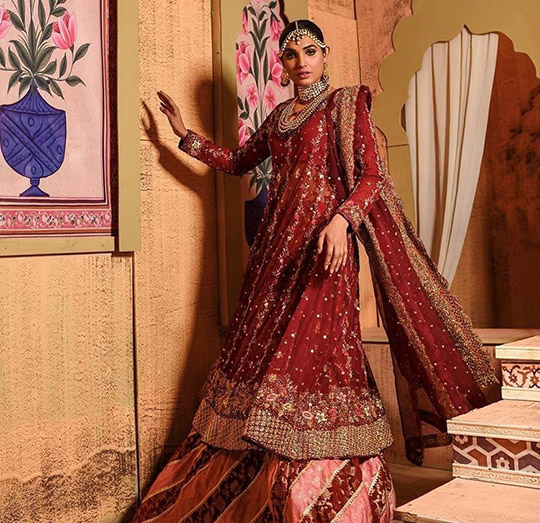 Ansab Jahangir Bridal Embroidered Dresses Collection Ranya 2019 (5)