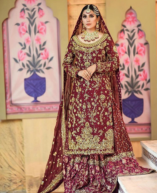 Ansab Jahangir Bridal Embroidered Dresses Collection Ranya 2019 (6)