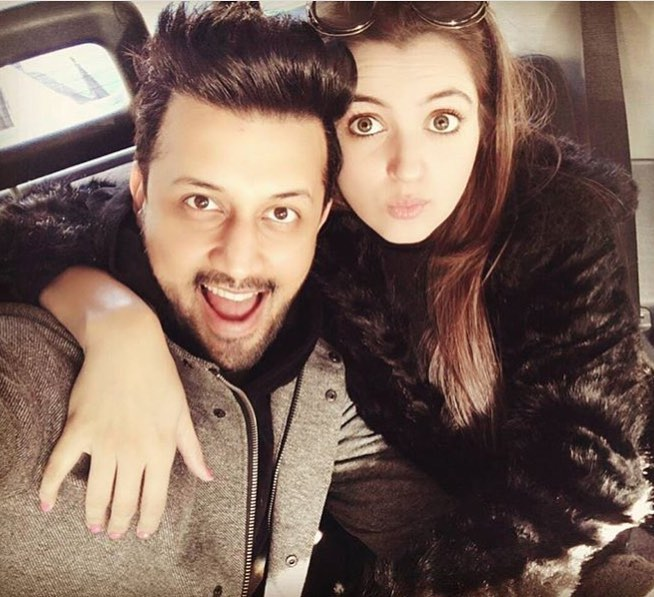 Atif Aslam Latest Images with his Wife Sara Bharwana (10)