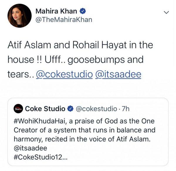 Celebrities loved Wohi Khuda Hai by Atif Aslam for Coke Studio (2)