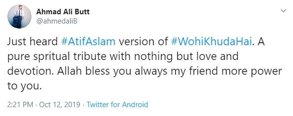 Celebrities loved Wohi Khuda Hai by Atif Aslam for Coke Studio (4)