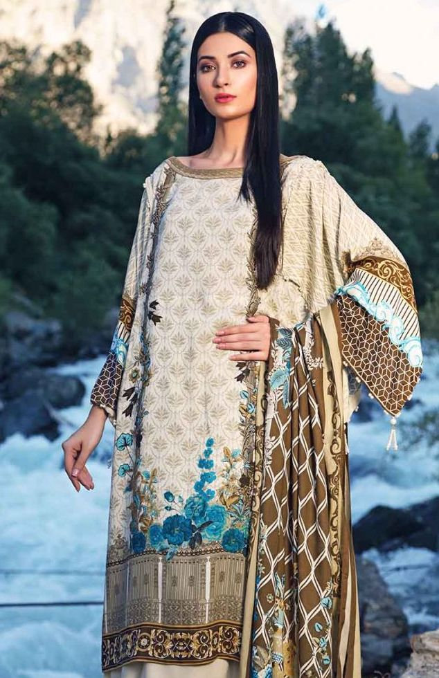 Gul Ahmed Latest Winter Collection 2019 (13)