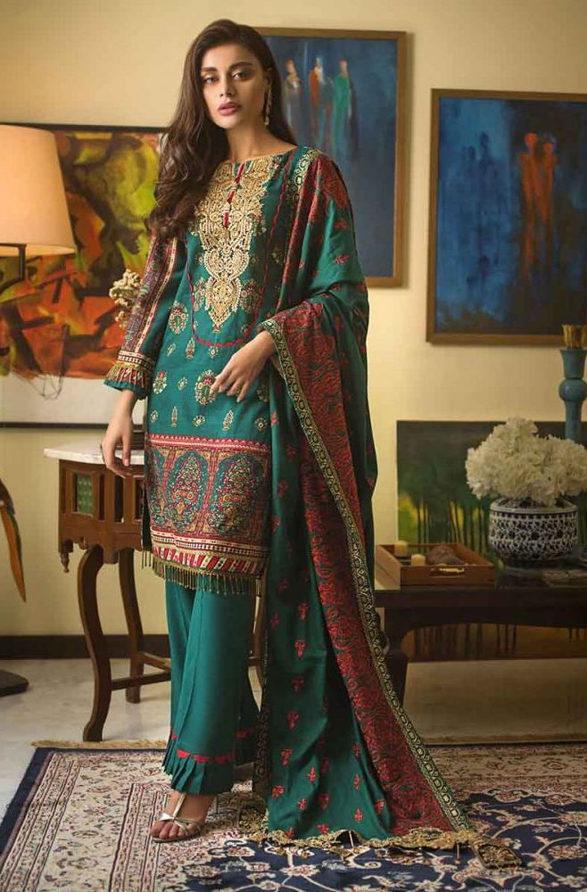 Gul Ahmed Latest Winter Collection 2019 (6)