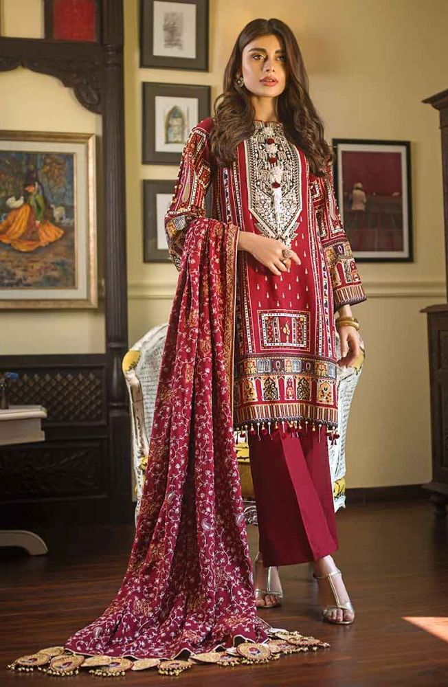 Gul Ahmed Latest Winter Collection 2019 (8)