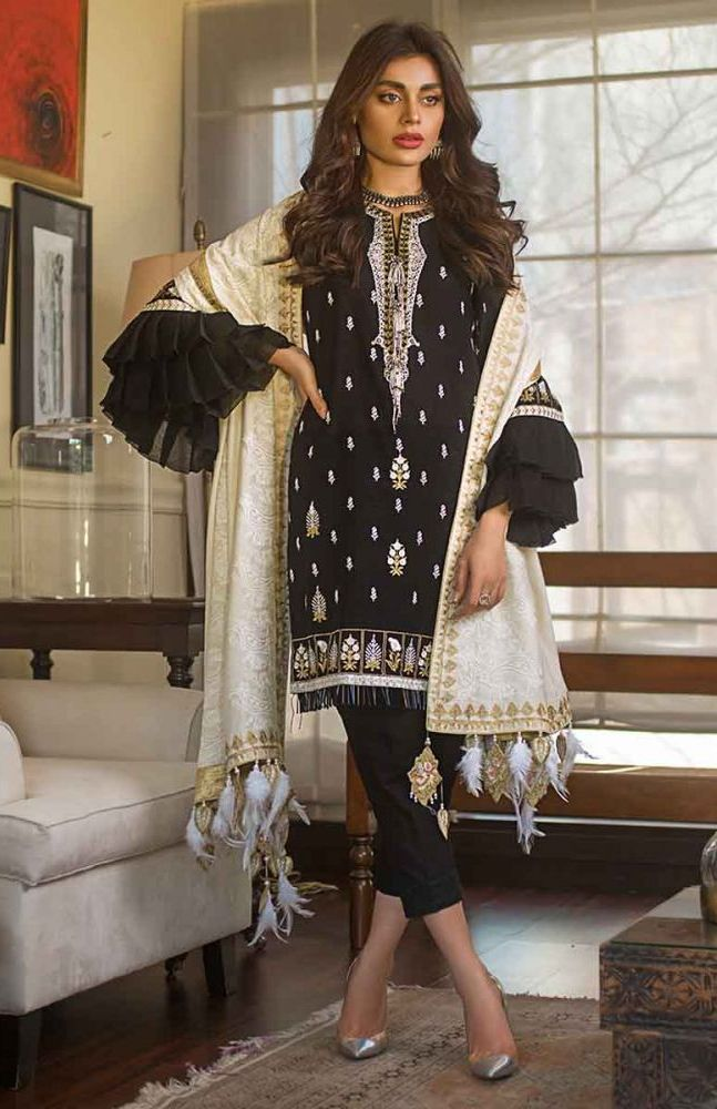 Gul Ahmed Latest Winter Collection 2019 (9)