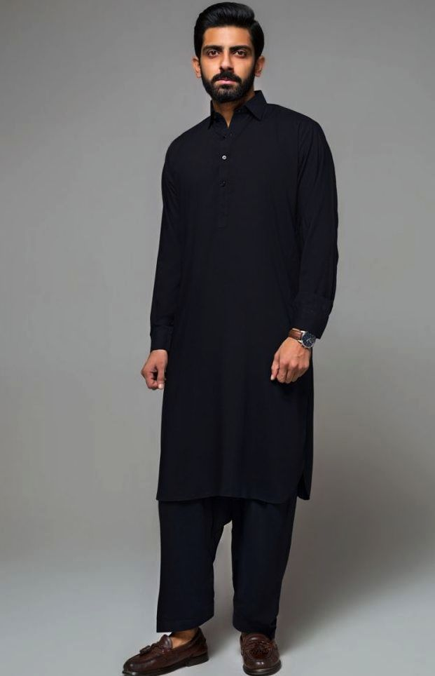 Gul Ahmed Men's Unstitched Winter Dresses Collection 2019 (31)