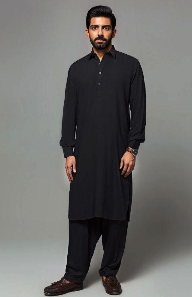 Gul Ahmed Men's Unstitched Winter Dresses Collection 2019 (33)