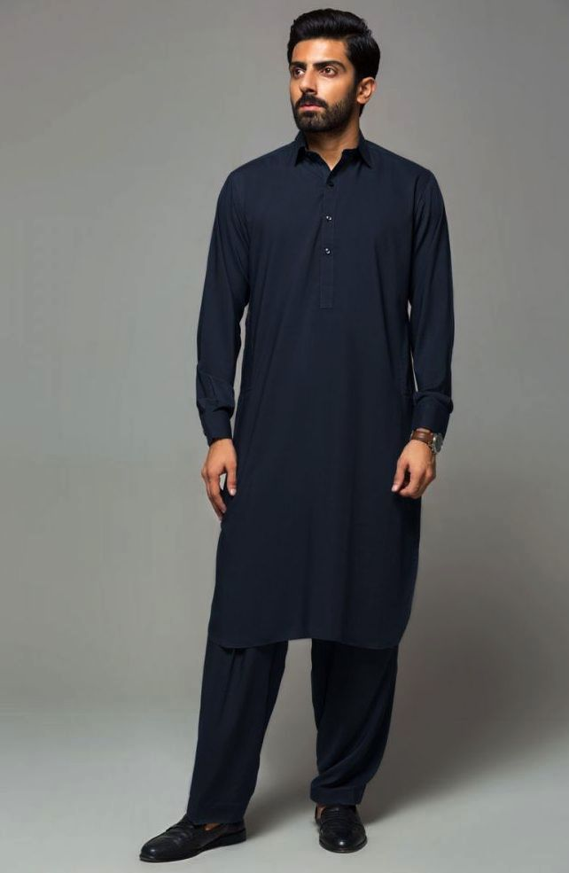 Gul Ahmed Men's Unstitched Winter Dresses Collection 2019 (40)