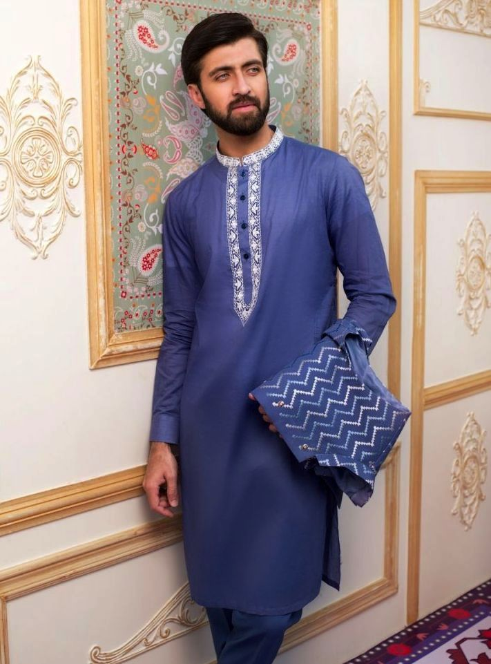 Gul Ahmed Men's Unstitched Winter Dresses Collection 2019 (6)