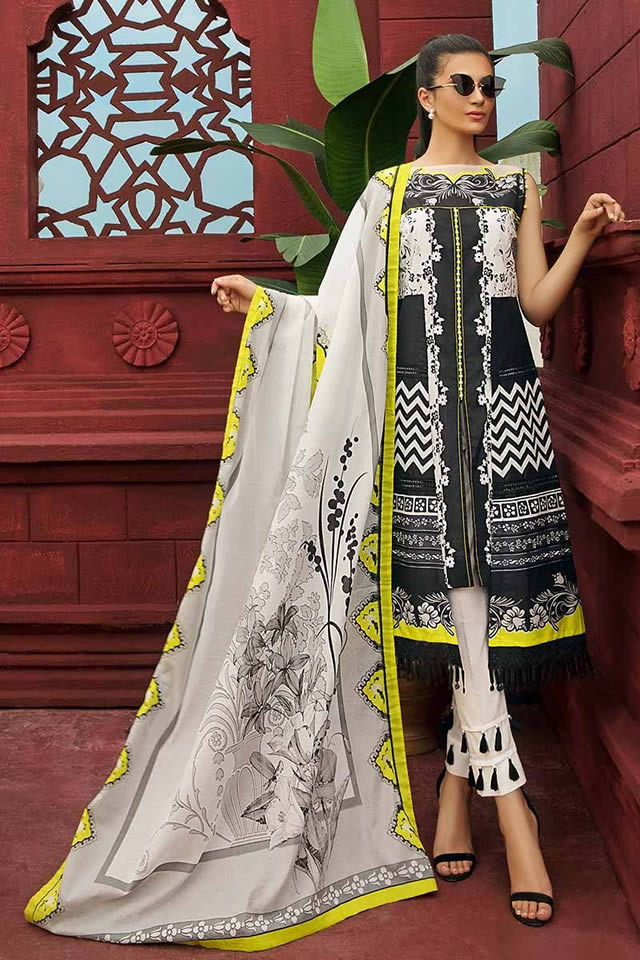 Gul Ahmed Two Piece Winter Collection 2019 (7)