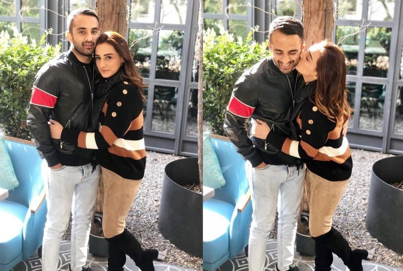 Momal Sheikh Latest Pictures with her Husband (1)