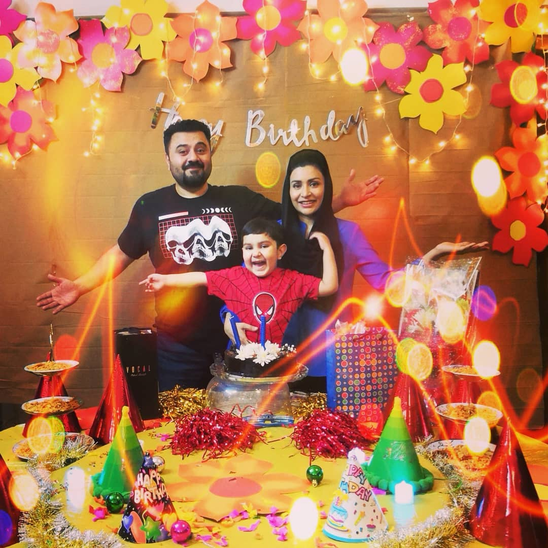 Pakistani Actor Ahmed Ali Butt Celebrate his Son Azaan Birthday Images (10)