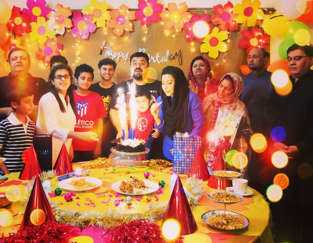 Pakistani Actor Ahmed Ali Butt Celebrate his Son Azaan Birthday Images (11)