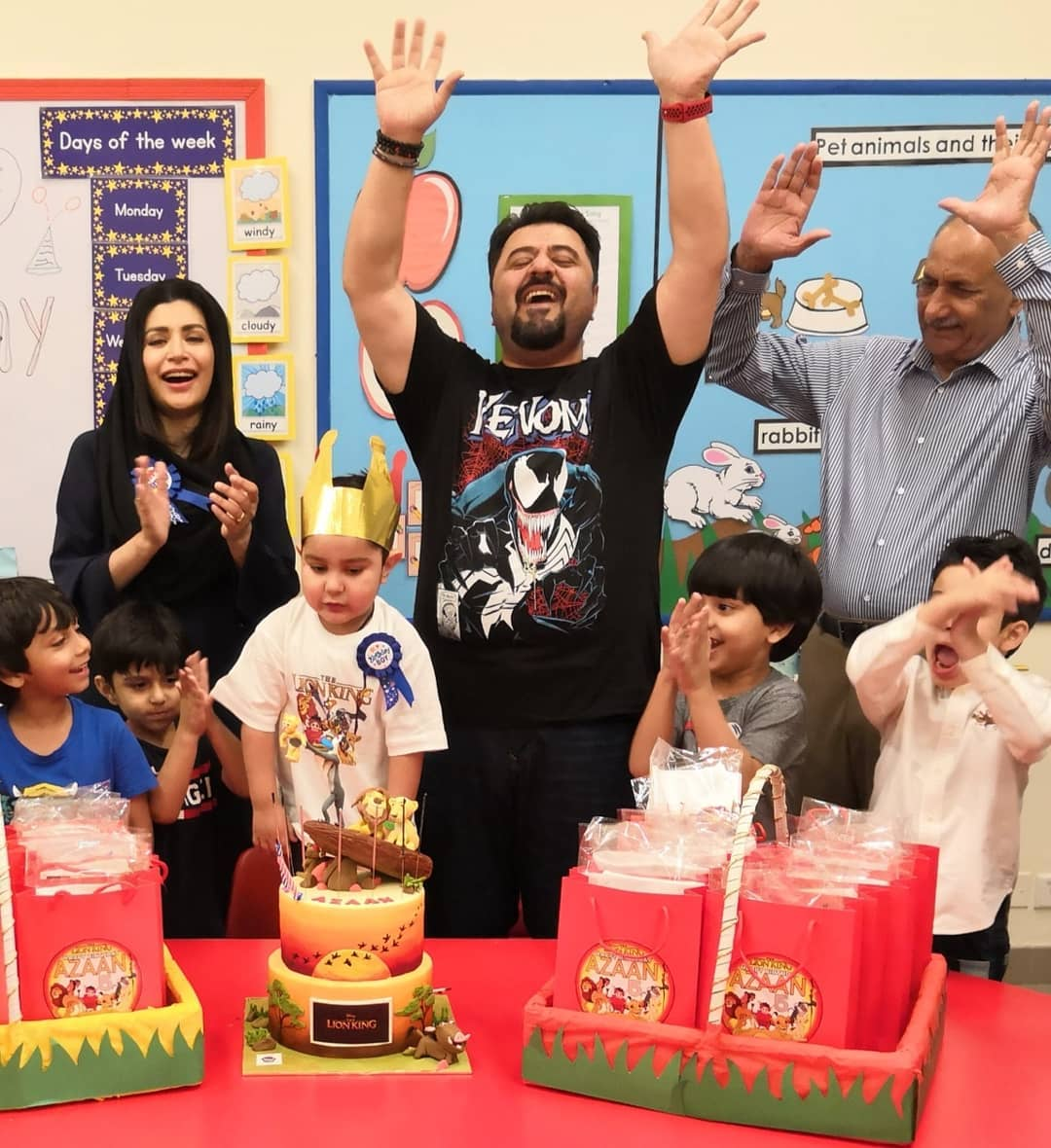 Pakistani Actor Ahmed Ali Butt Celebrate his Son Azaan Birthday Images (12)
