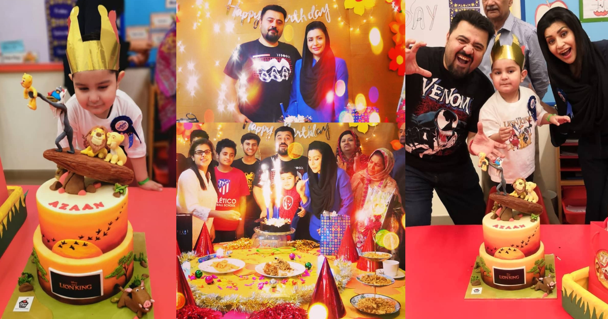 Pakistani Actor Ahmed Ali Butt Celebrate his Son Azaan Birthday Images (14)
